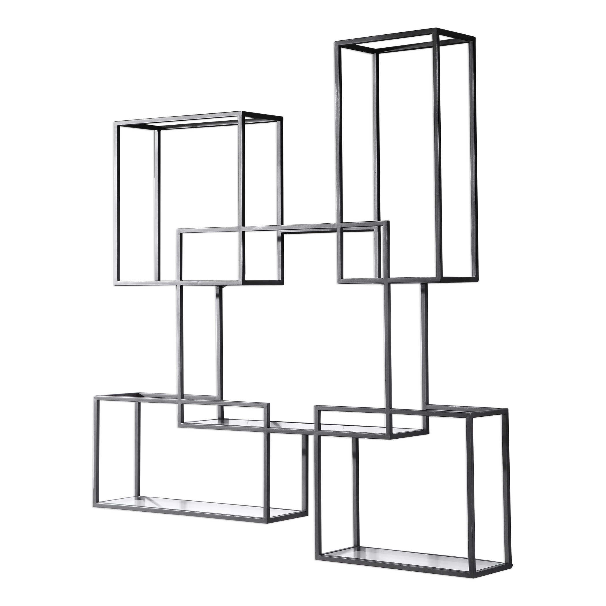 Global Views Wall Shelf: Uttermost Quentin Open-Framed Shelves