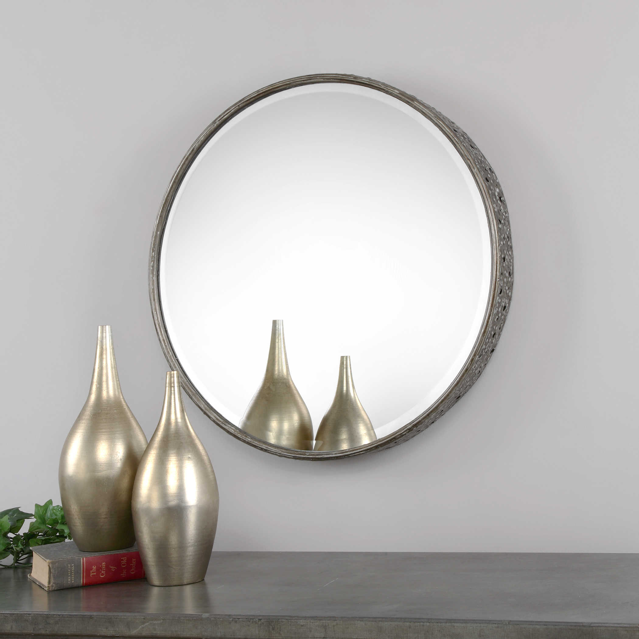 829c294e610 Uttermost Nova Round Metal Mirror