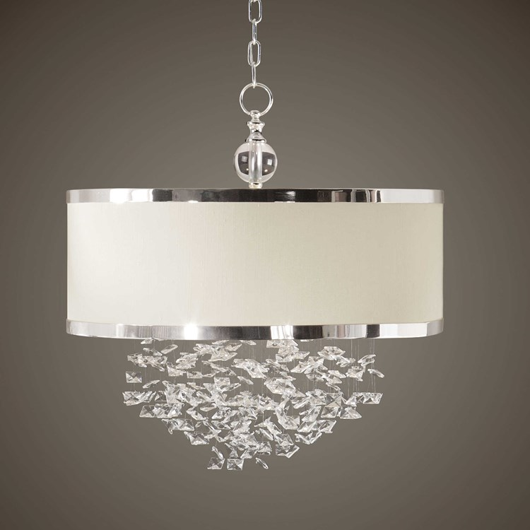 Fascination 3 Lt Hanging Shade Chandelier Uttermost