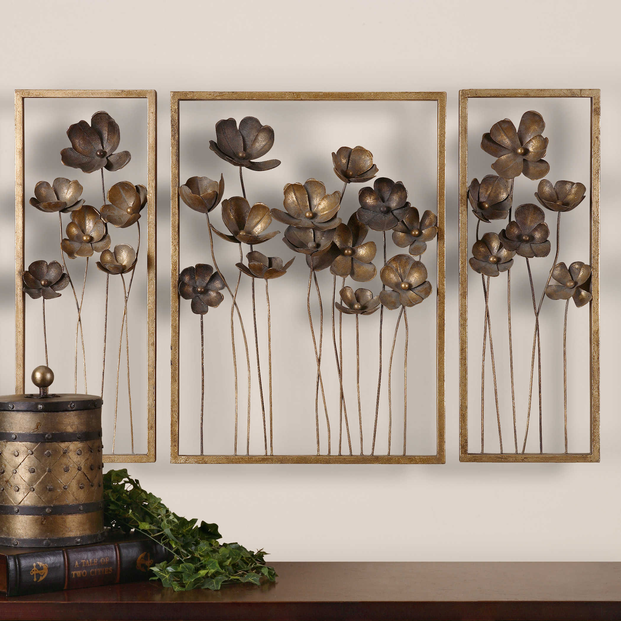 Metal Tulips Wall Decor S 3 Uttermost
