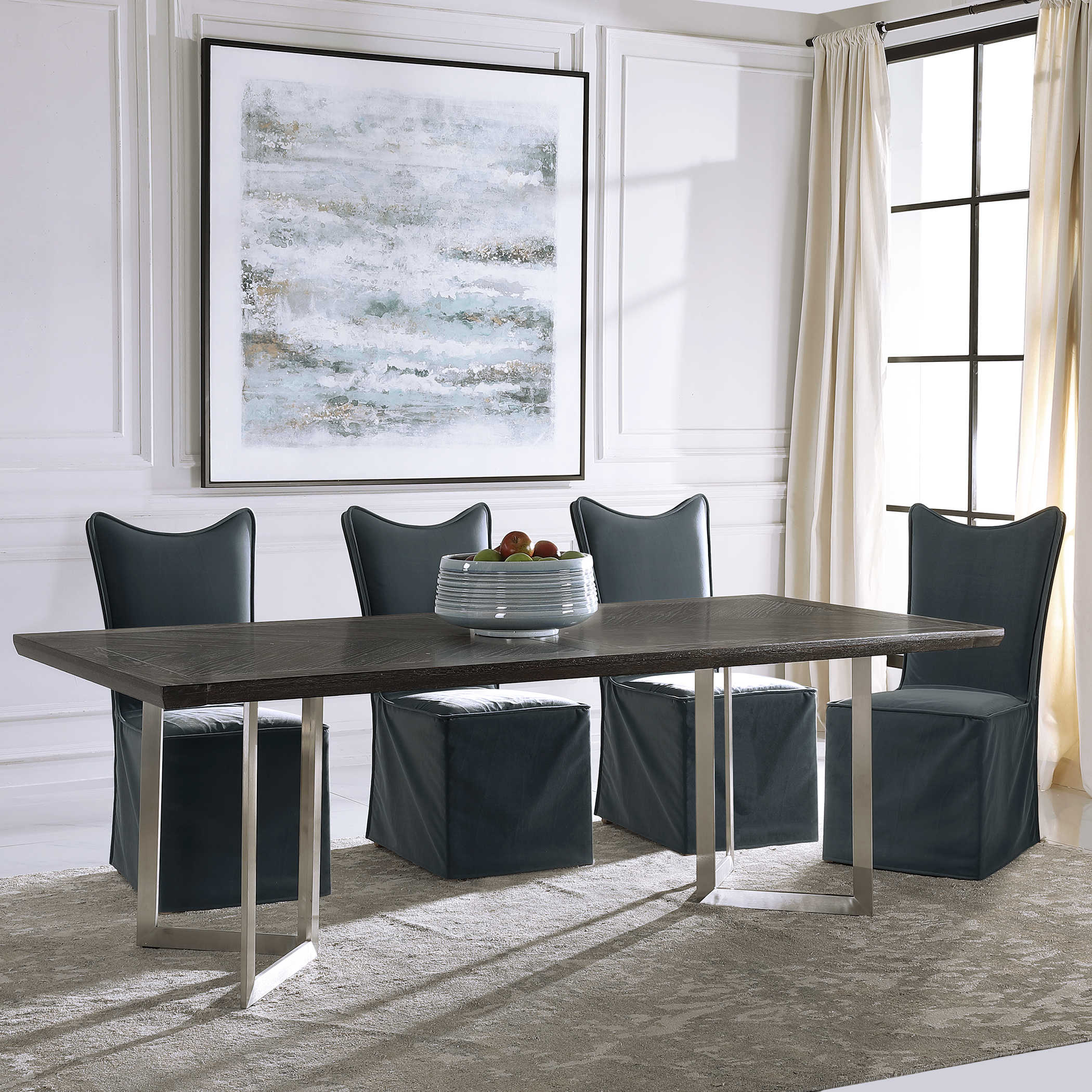 Herringbone Dining Table 2 Cartons, Uttermost Dining Room Tables