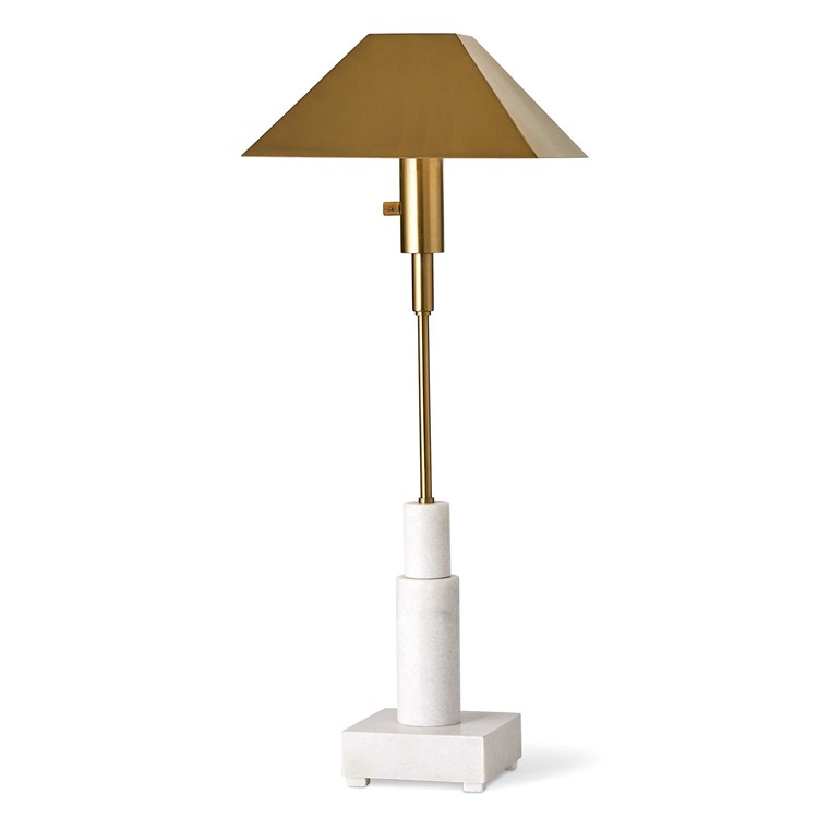Telescope Buffet Lamp Gold Uttermost