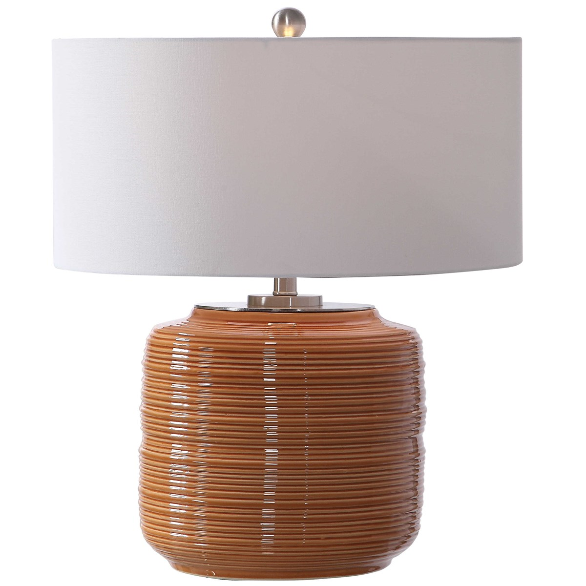 Uttermost Accessories Cayson Ribbed Ceramic Bottles S 2: Uttermost Solene Orange Table Lamp