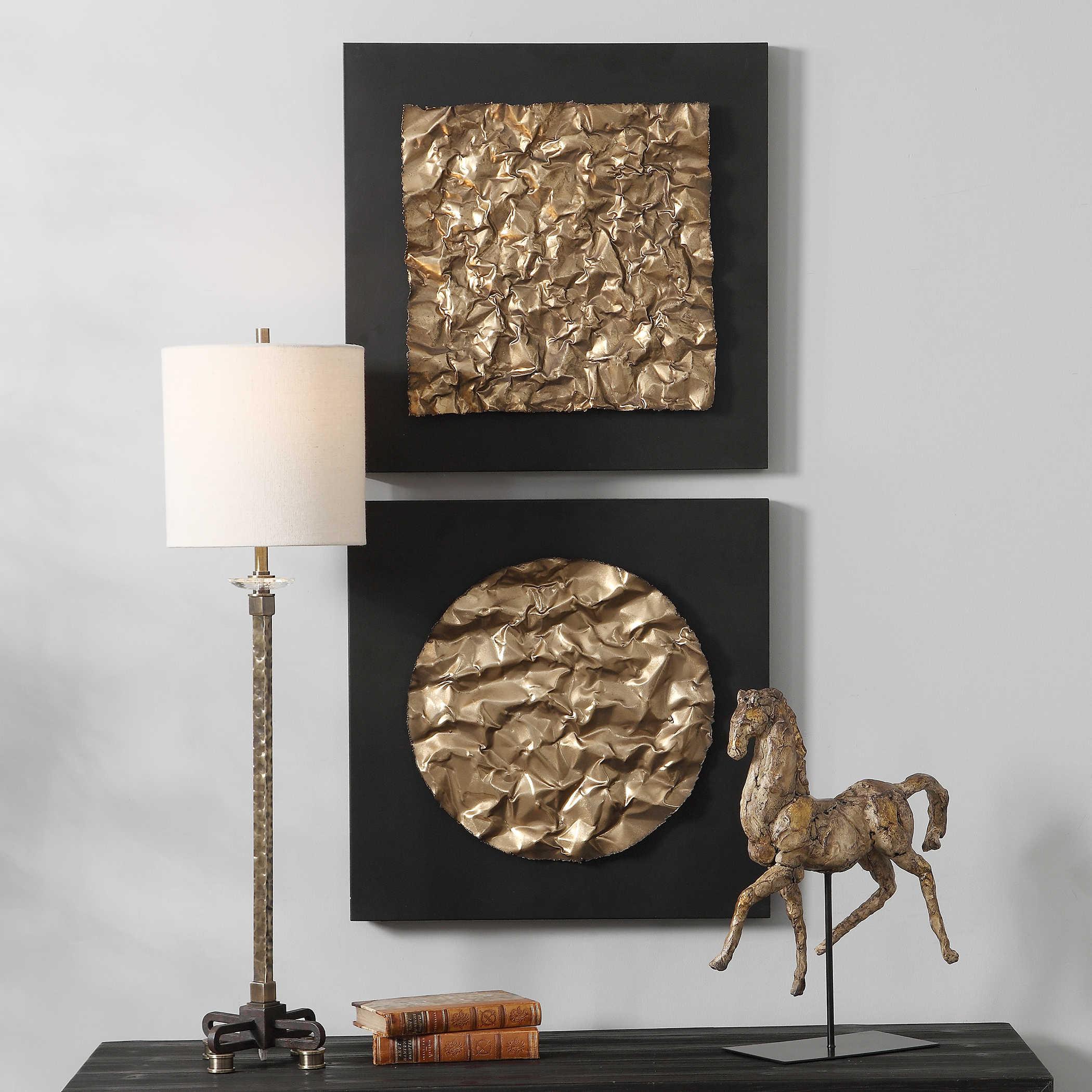 Uttermost Boaz Gold Wall Decor Set 2