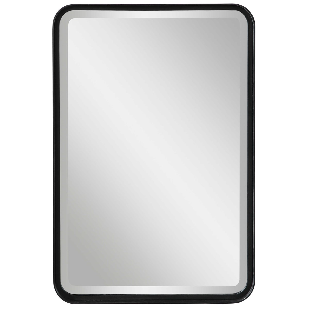 Croften Black Vanity Mirror Uttermost