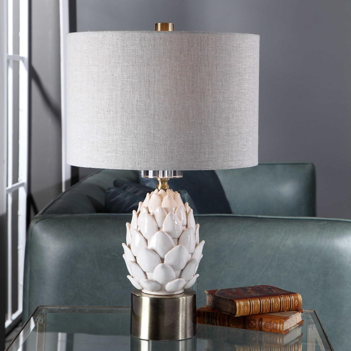 Uttermost White Artichoke Table Lamp