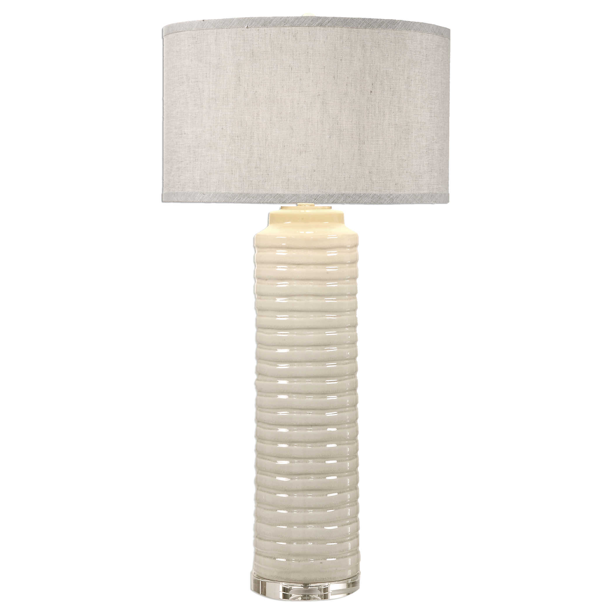 Uttermost Accessories Cayson Ribbed Ceramic Bottles S 2: Uttermost Yana Ribbed Cylinder Lamp