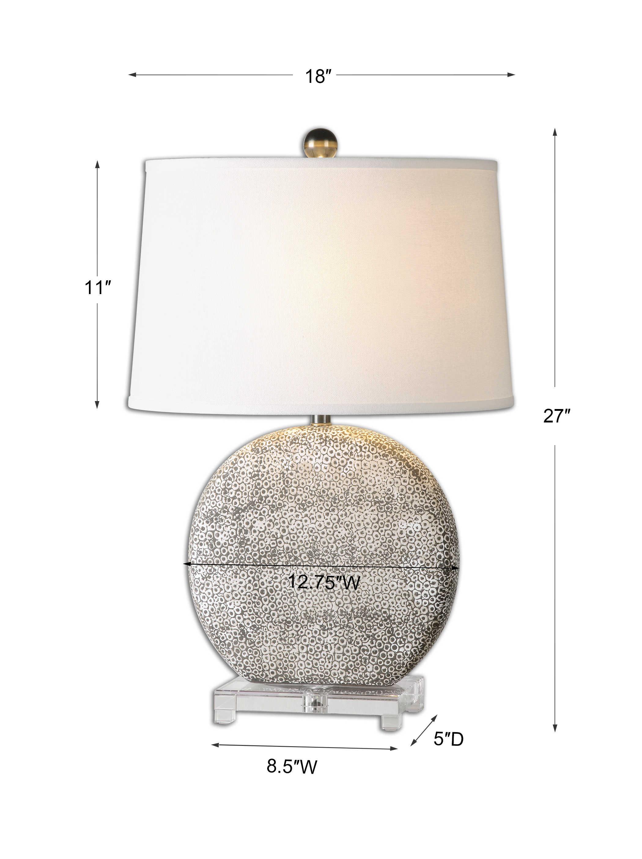 Uttermost Albinus White Lamp