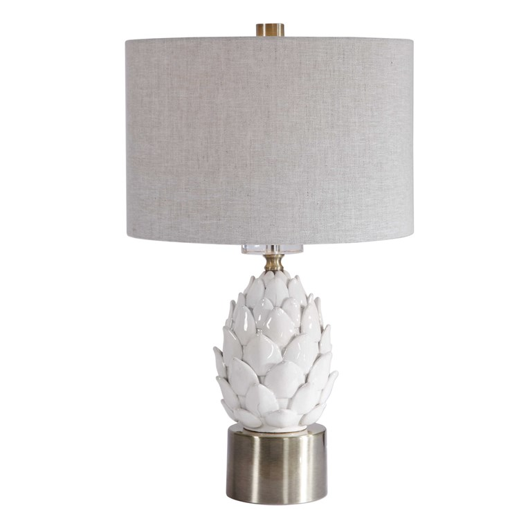 Uttermost White Artichoke Table Lamp