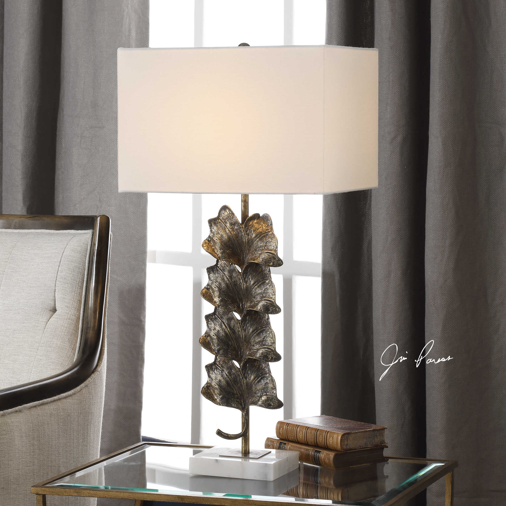 Ginkgo Table Lamp Uttermost