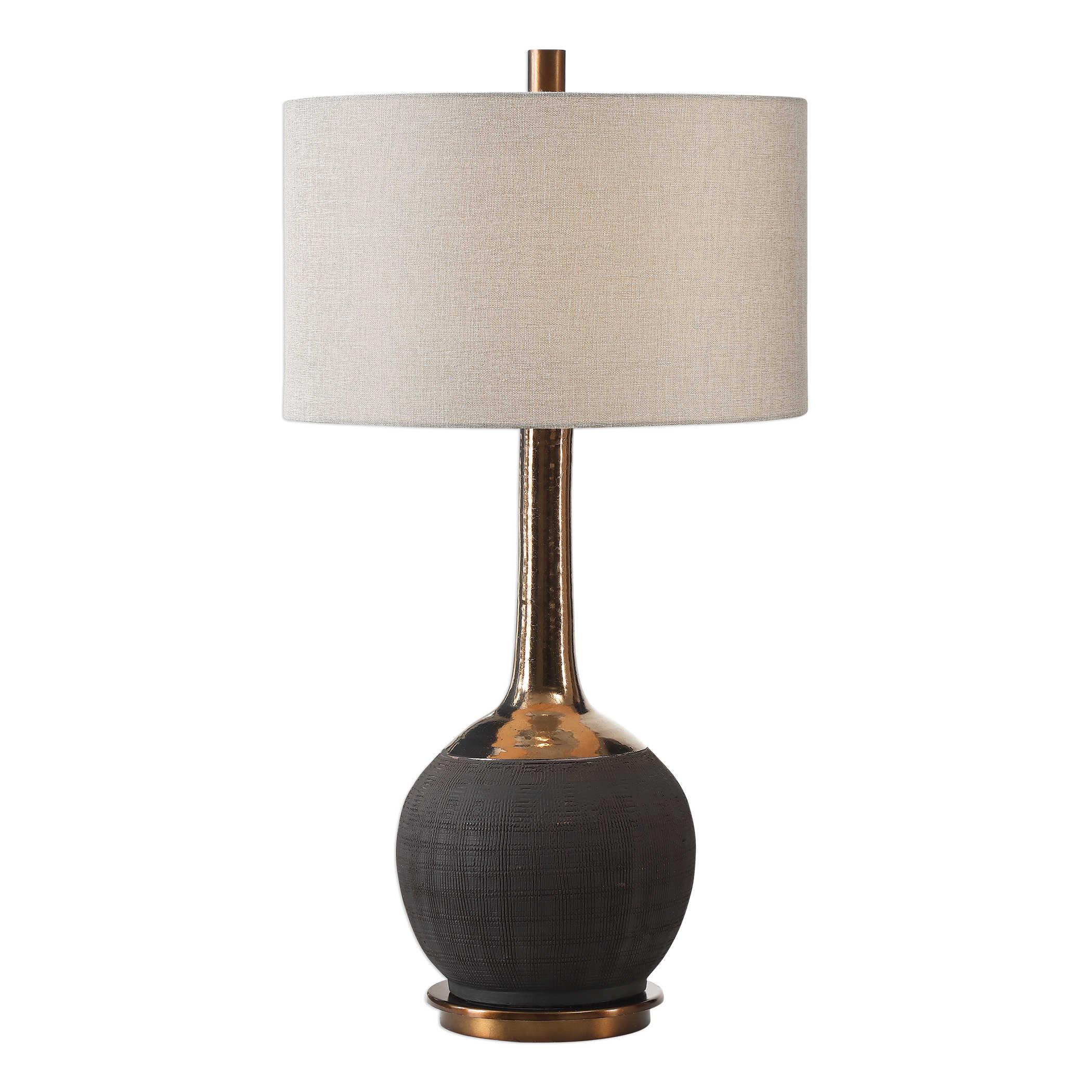 Uttermost Arnav Textured Black Lamp