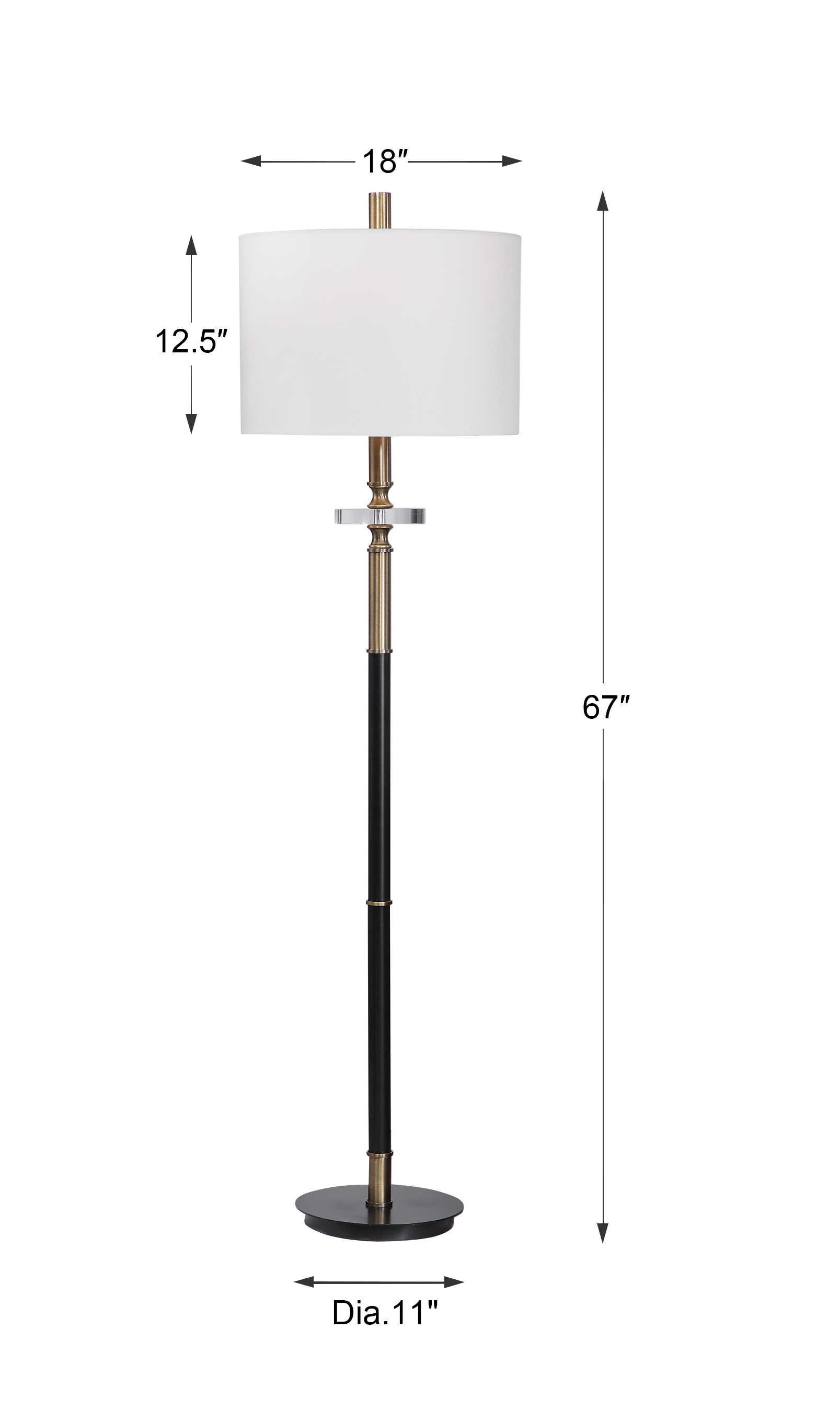 Maud Floor Lamp Uttermost