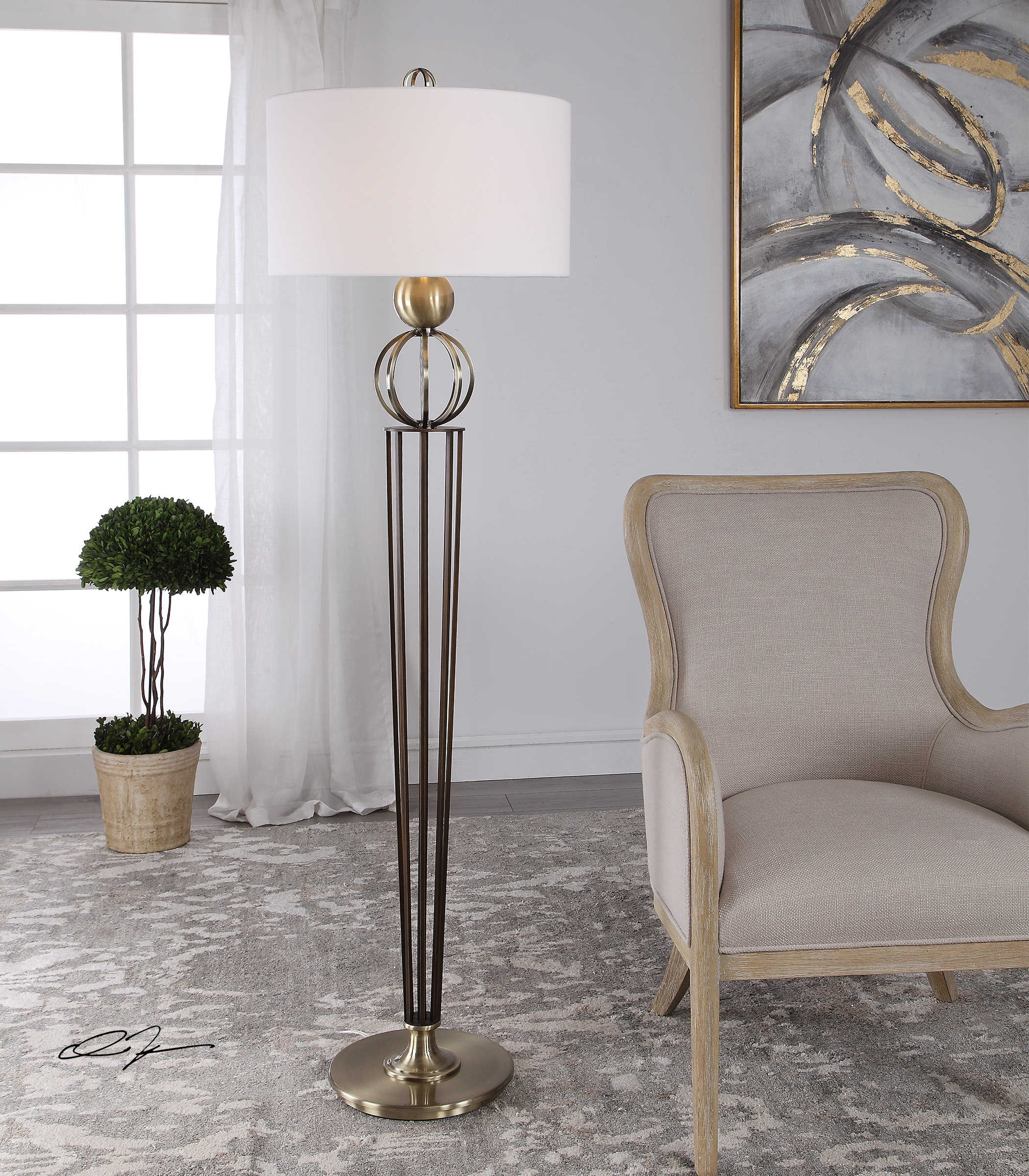 Uttermost Elisia Open Profile Floor Lamp