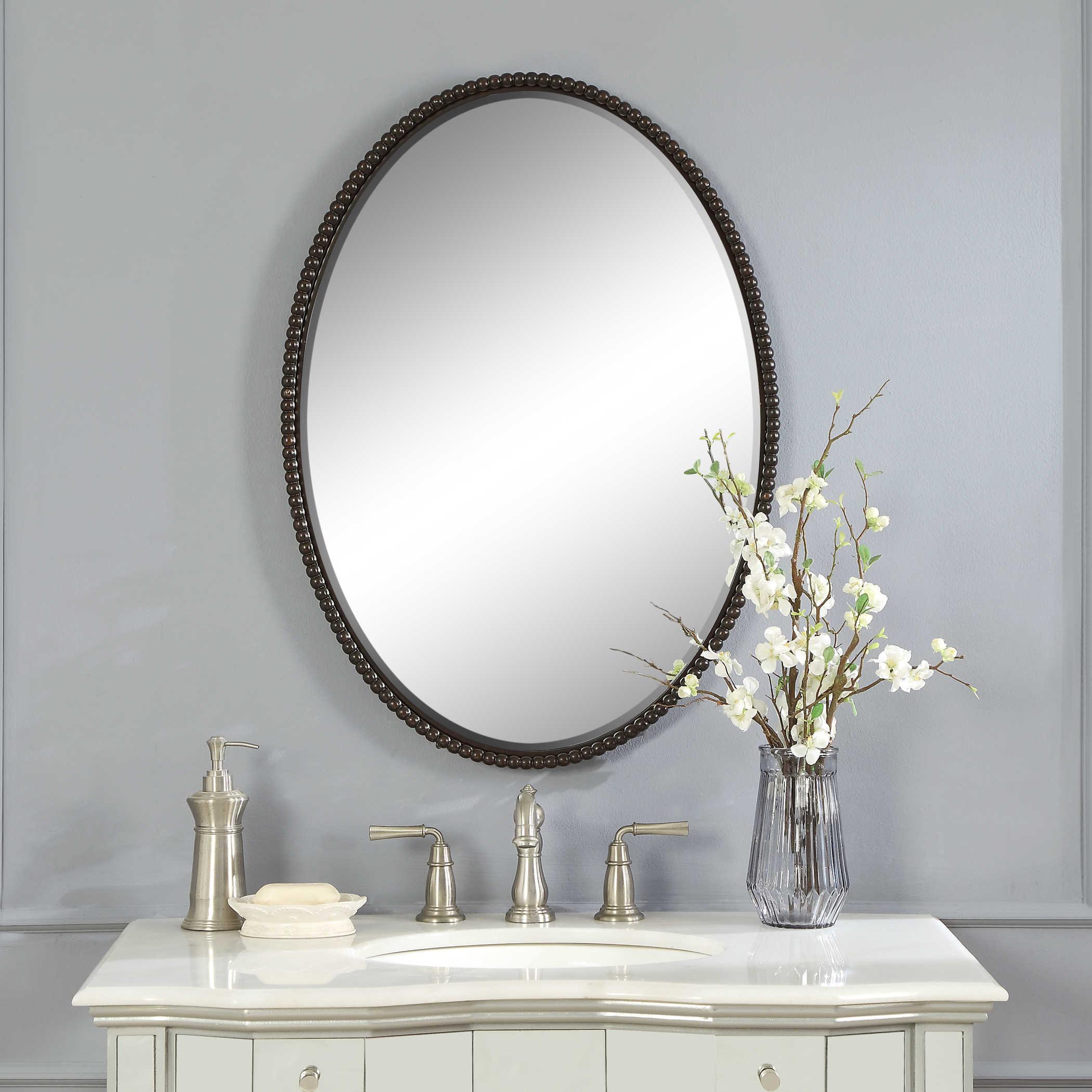 Sherise Bronze Oval Mirror Uttermost