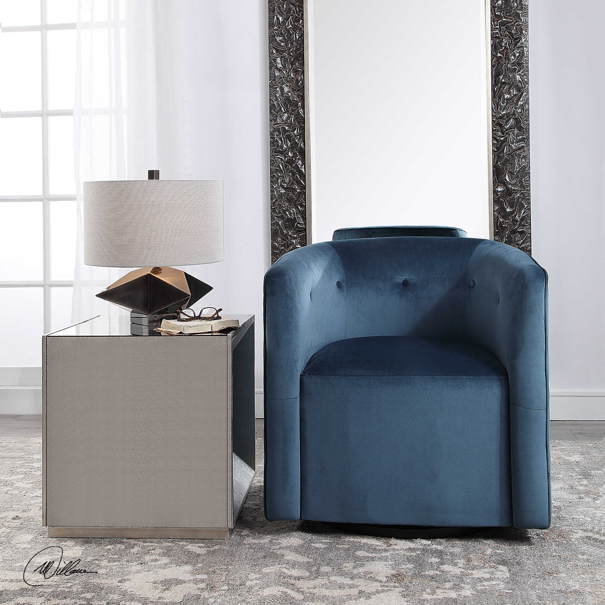 mallorie swivel chair 23491 shop furniture genessy table lamp