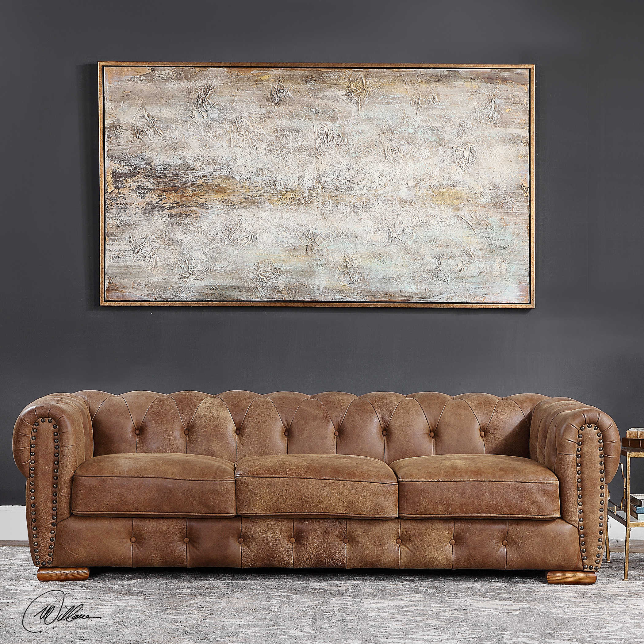 Awe Inspiring Johnson Leather Sofa Ocoug Best Dining Table And Chair Ideas Images Ocougorg