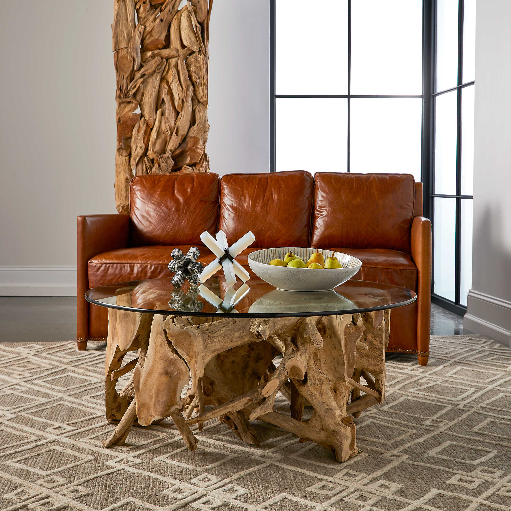 Teak Root Coffee Table, Round 2 CARTONS | Uttermost