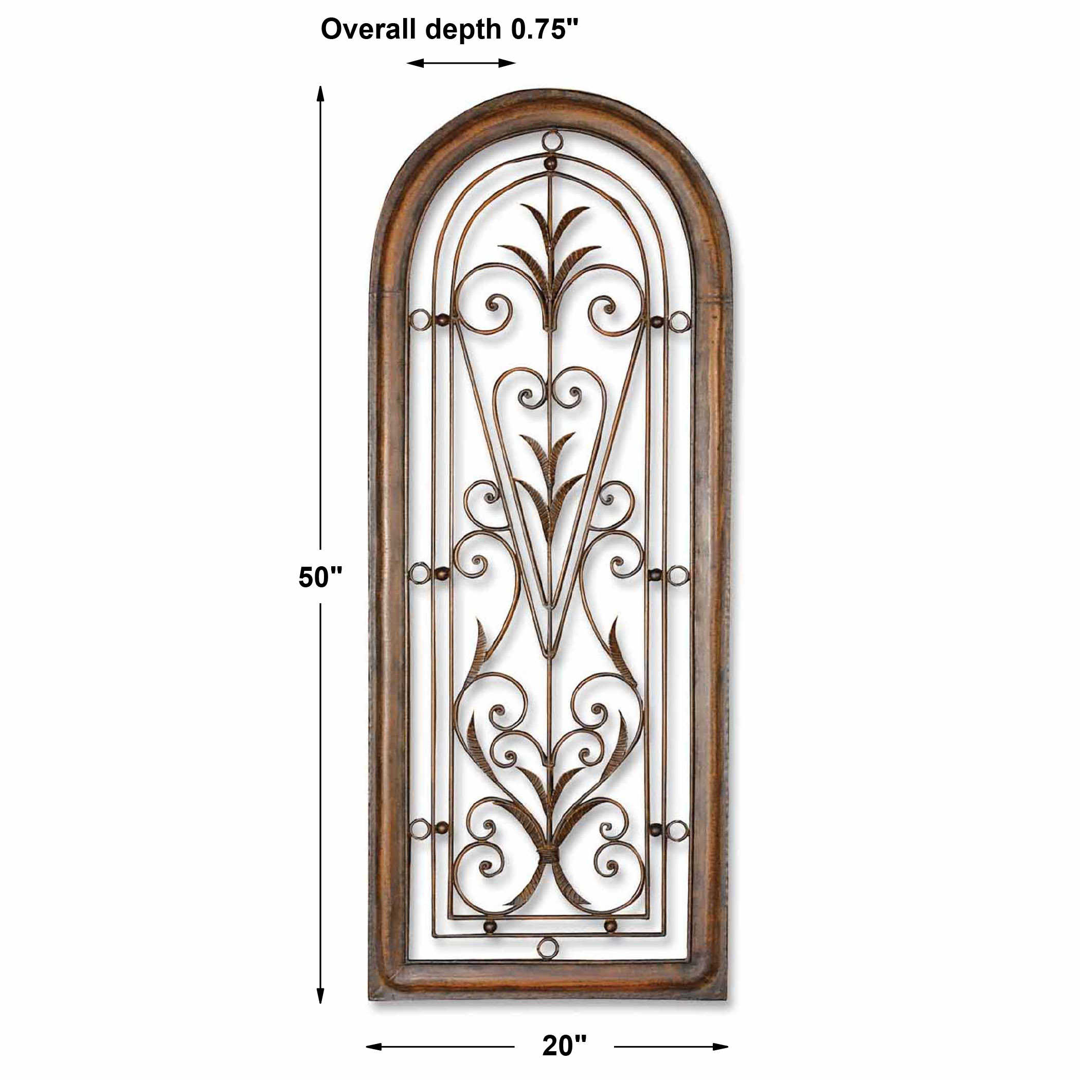 Cristy Petite Metal Wall Decor Uttermost