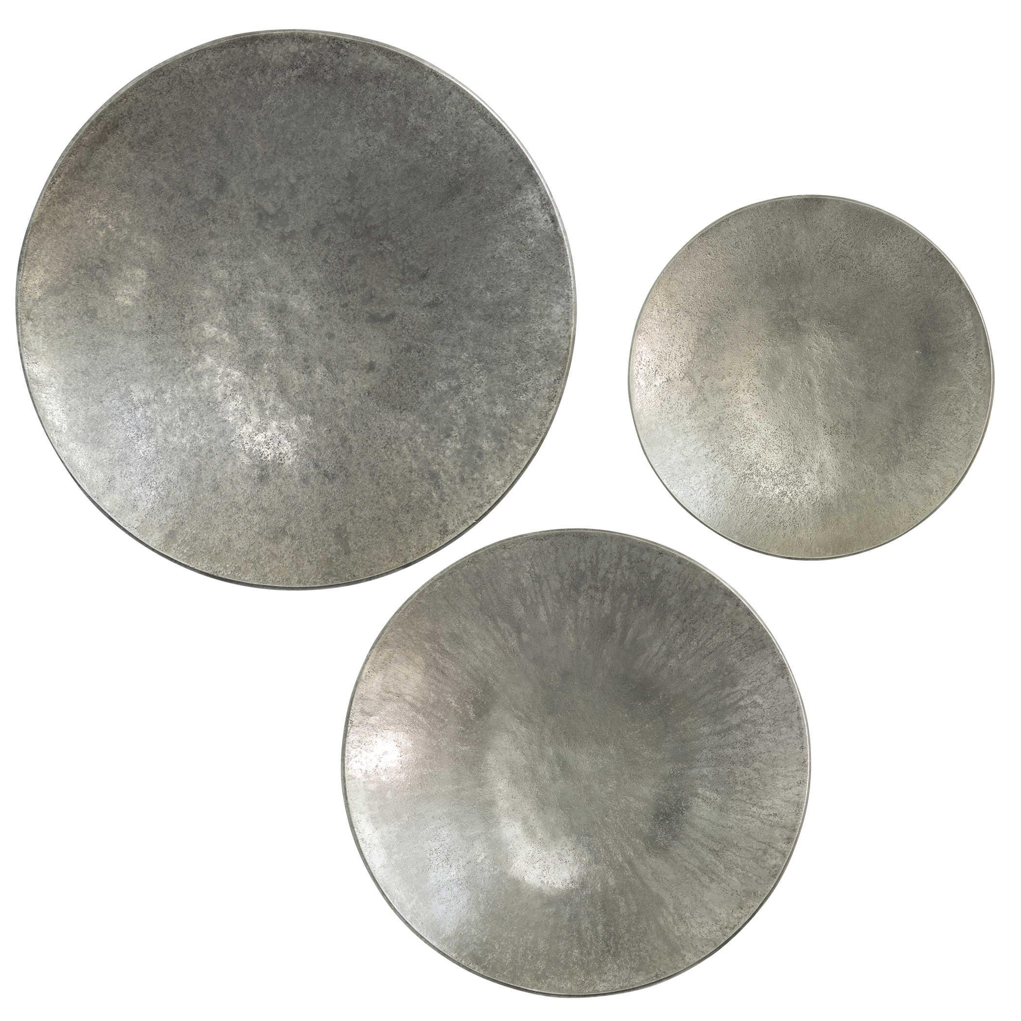 Aitana Metal Wall Decor Silver S 3 Uttermost