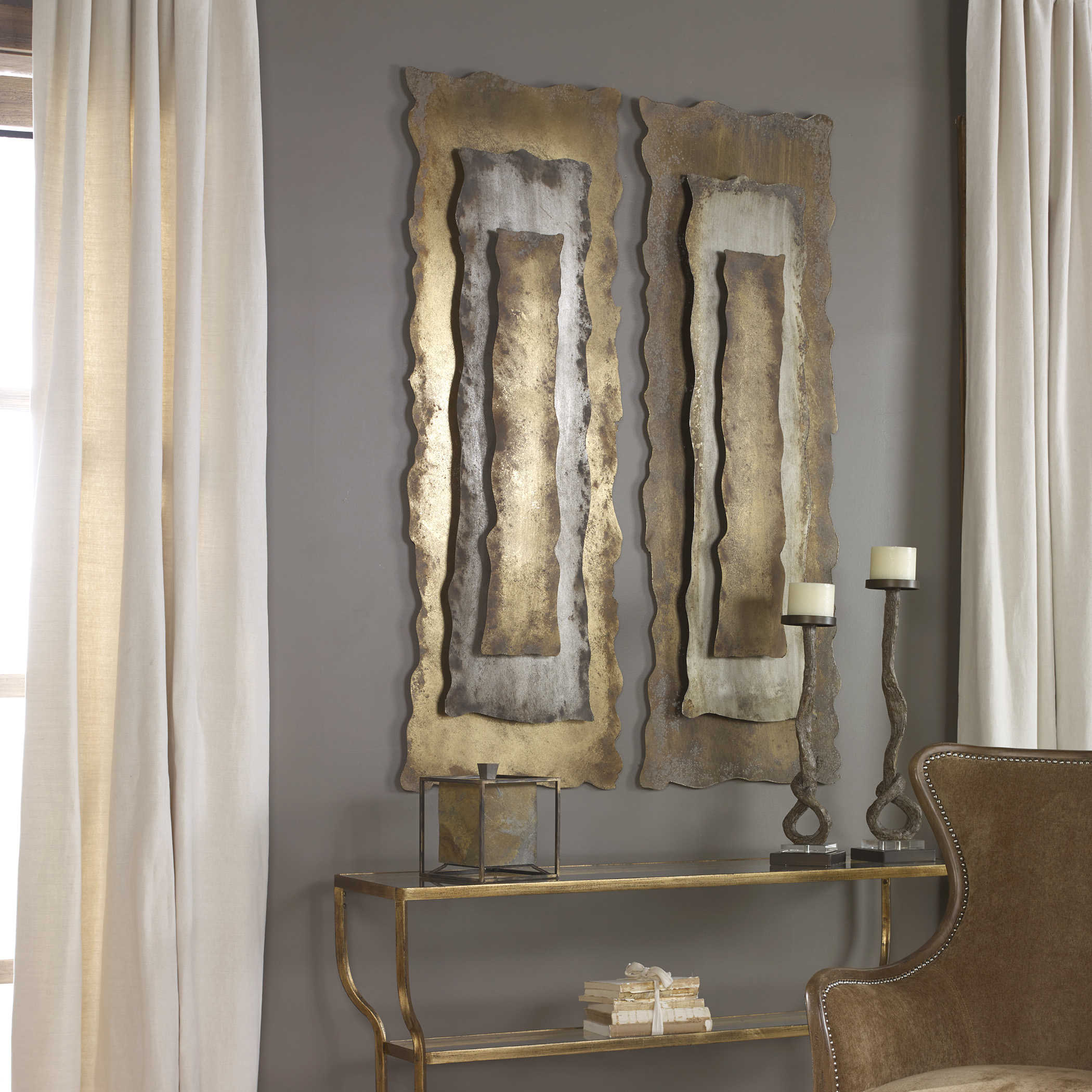 Jaymes Metal Wall Panel Uttermost