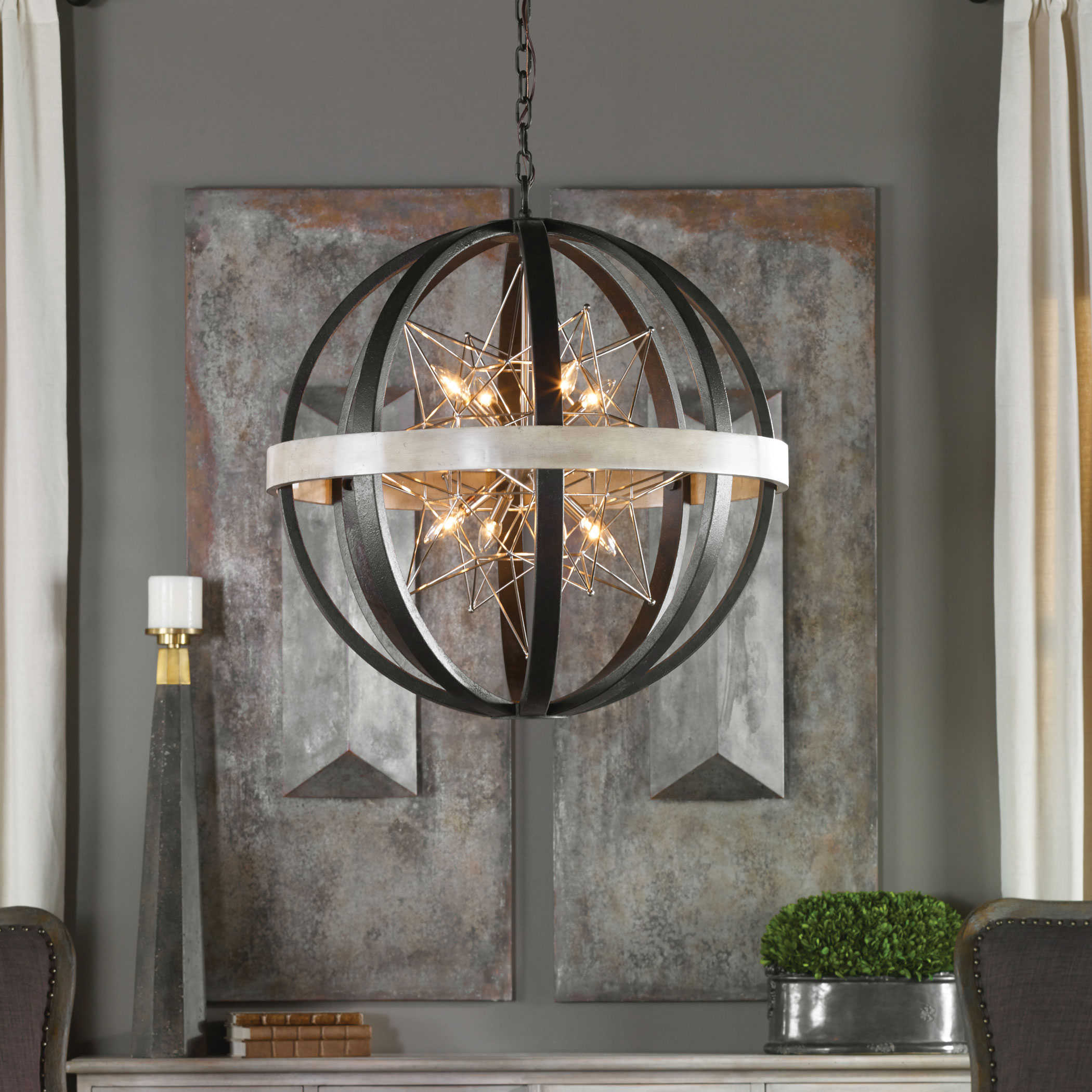 Uttermost Accent Furniture Mirrors Wall Decor Clocks