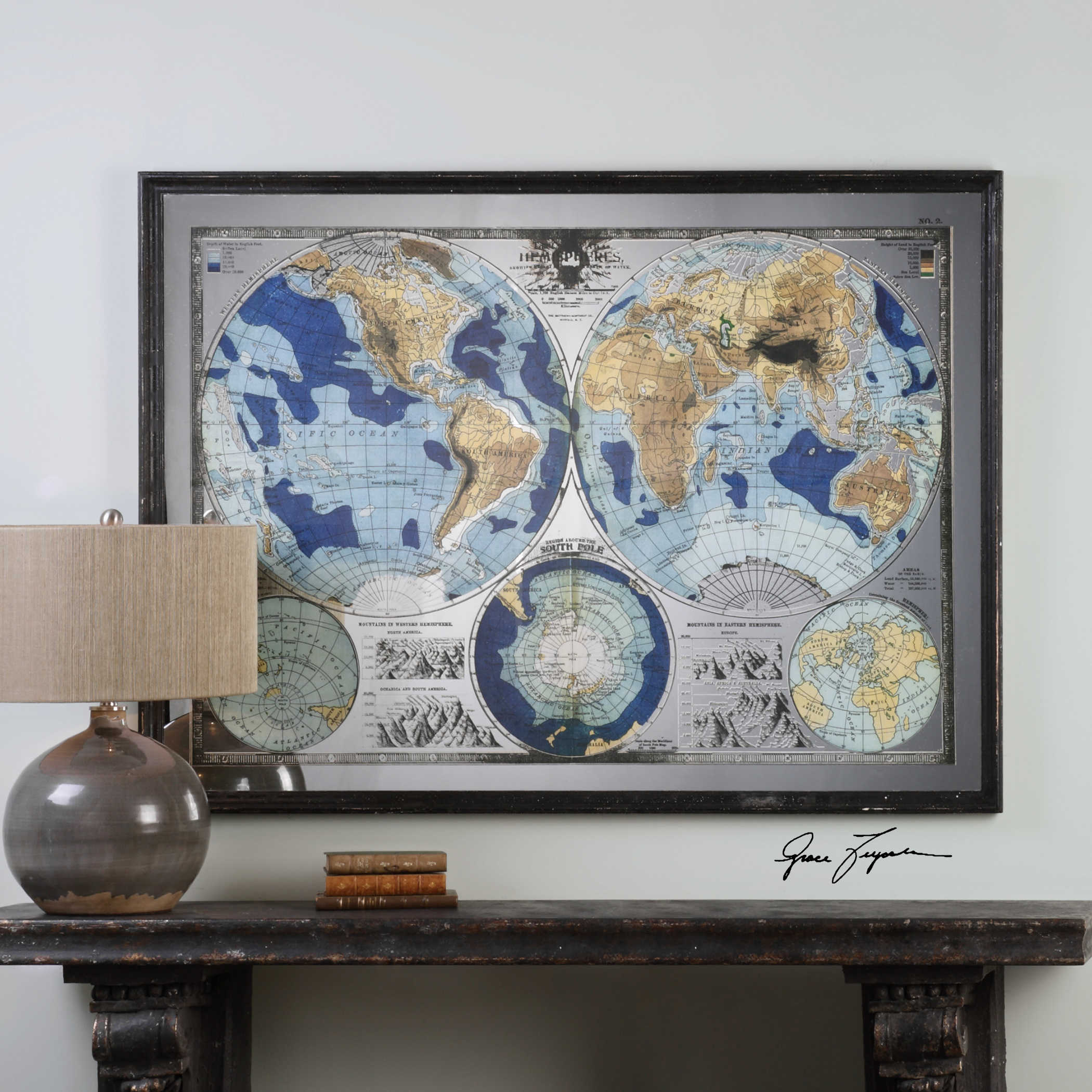 Mirrored Map Of The World.Uttermost Mirrored World Map