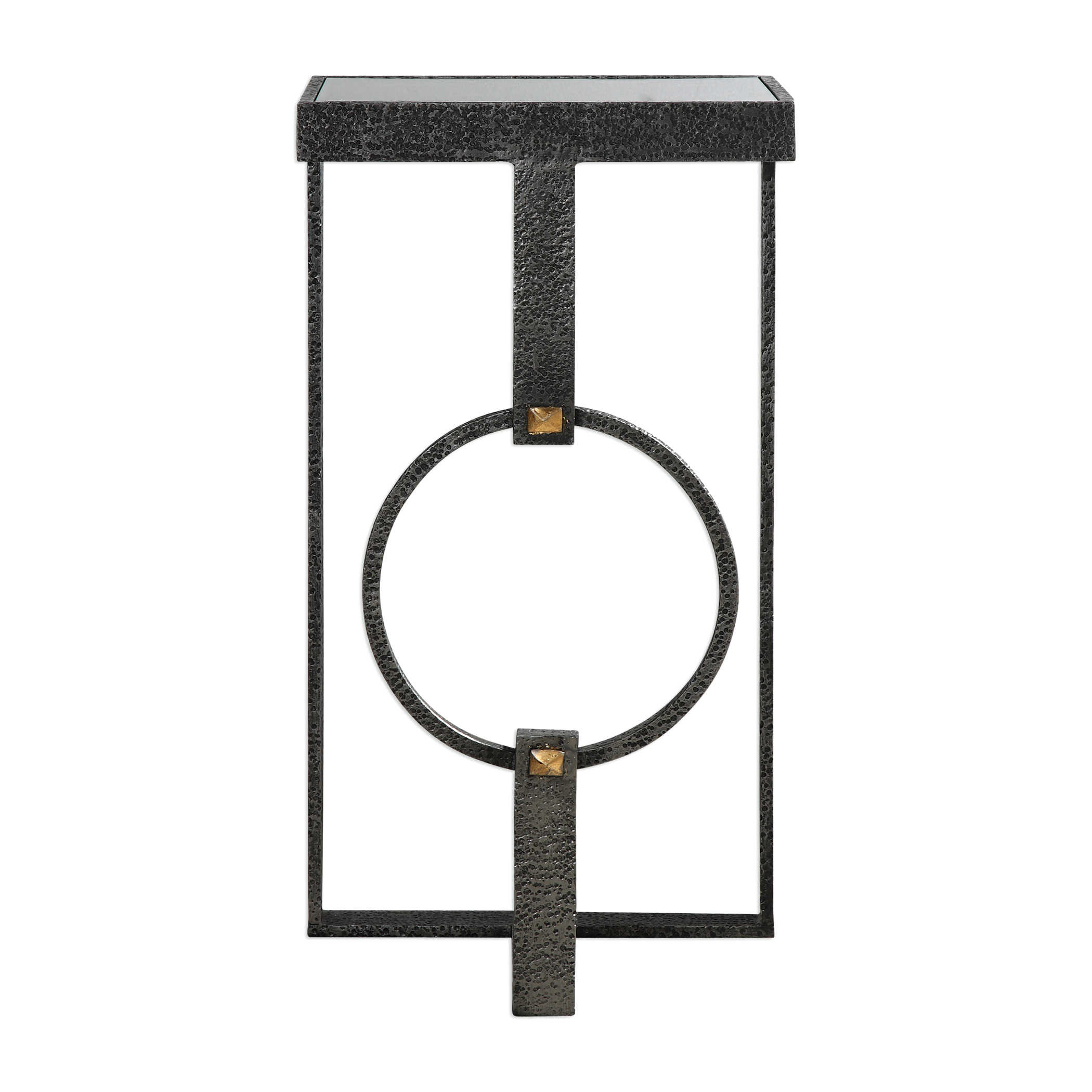 Uttermost Hagen Burnished Steel Accent Table
