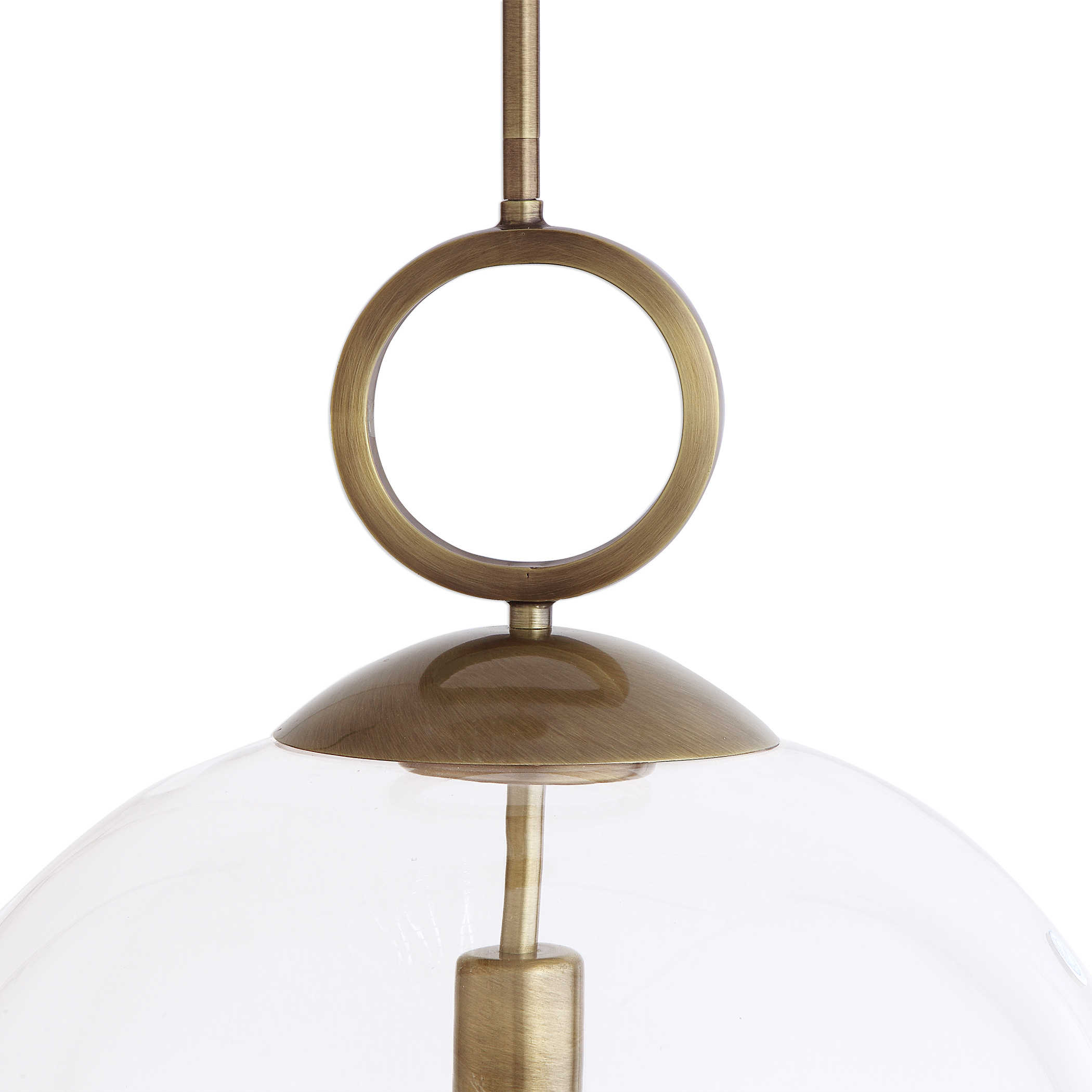 Uttermost Calix Large Blown Glass 1 Light Pendant