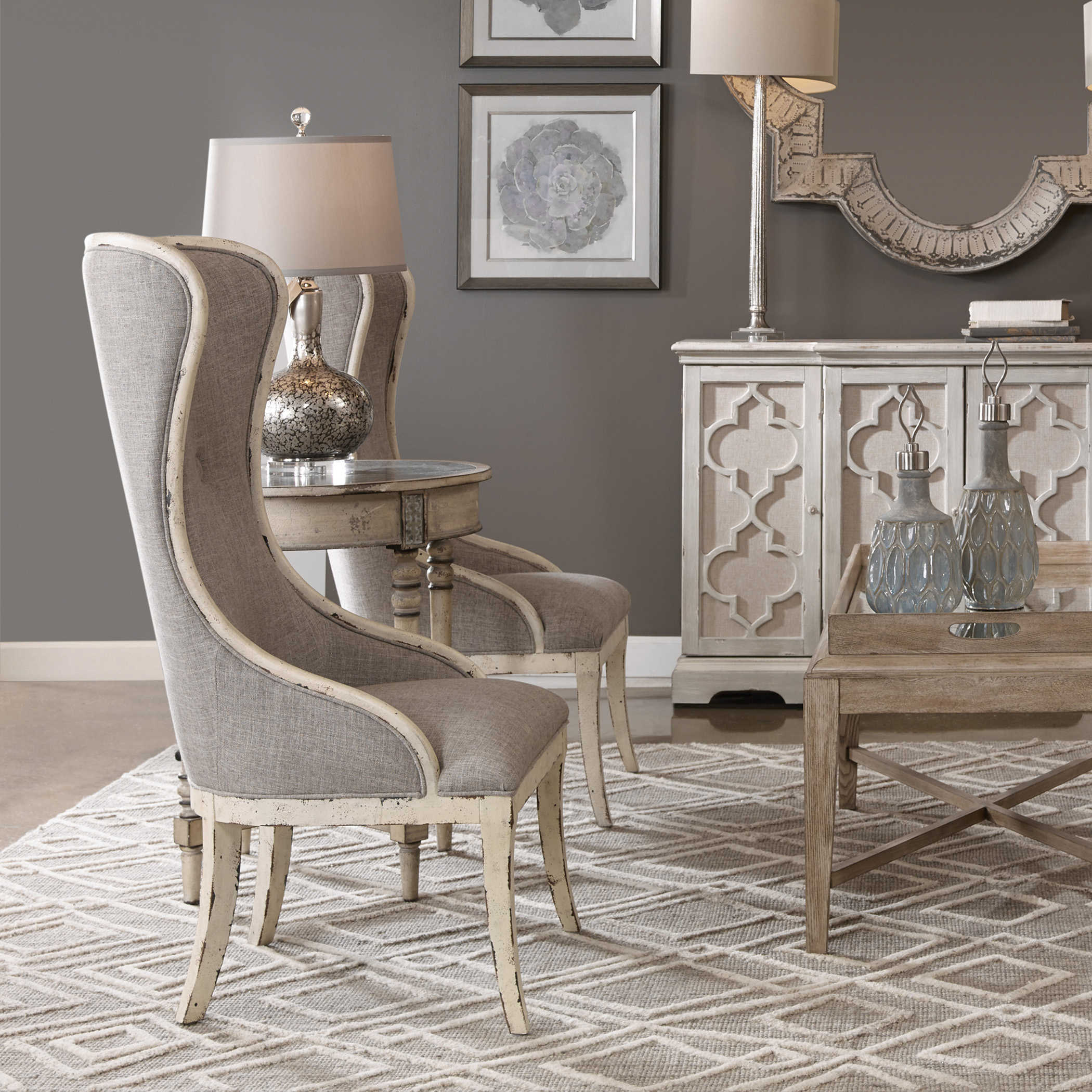 Selam Wing Chair Uttermost