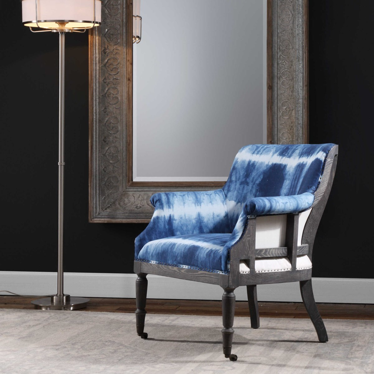 Royal Blue Accent Chairs: Uttermost Royal Cobalt Blue Accent Chair