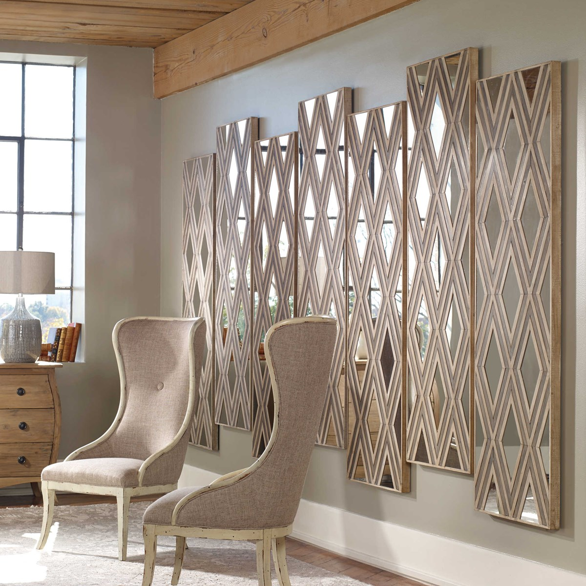 Tahira Wood Wall Decor, Rectangle | Uttermost