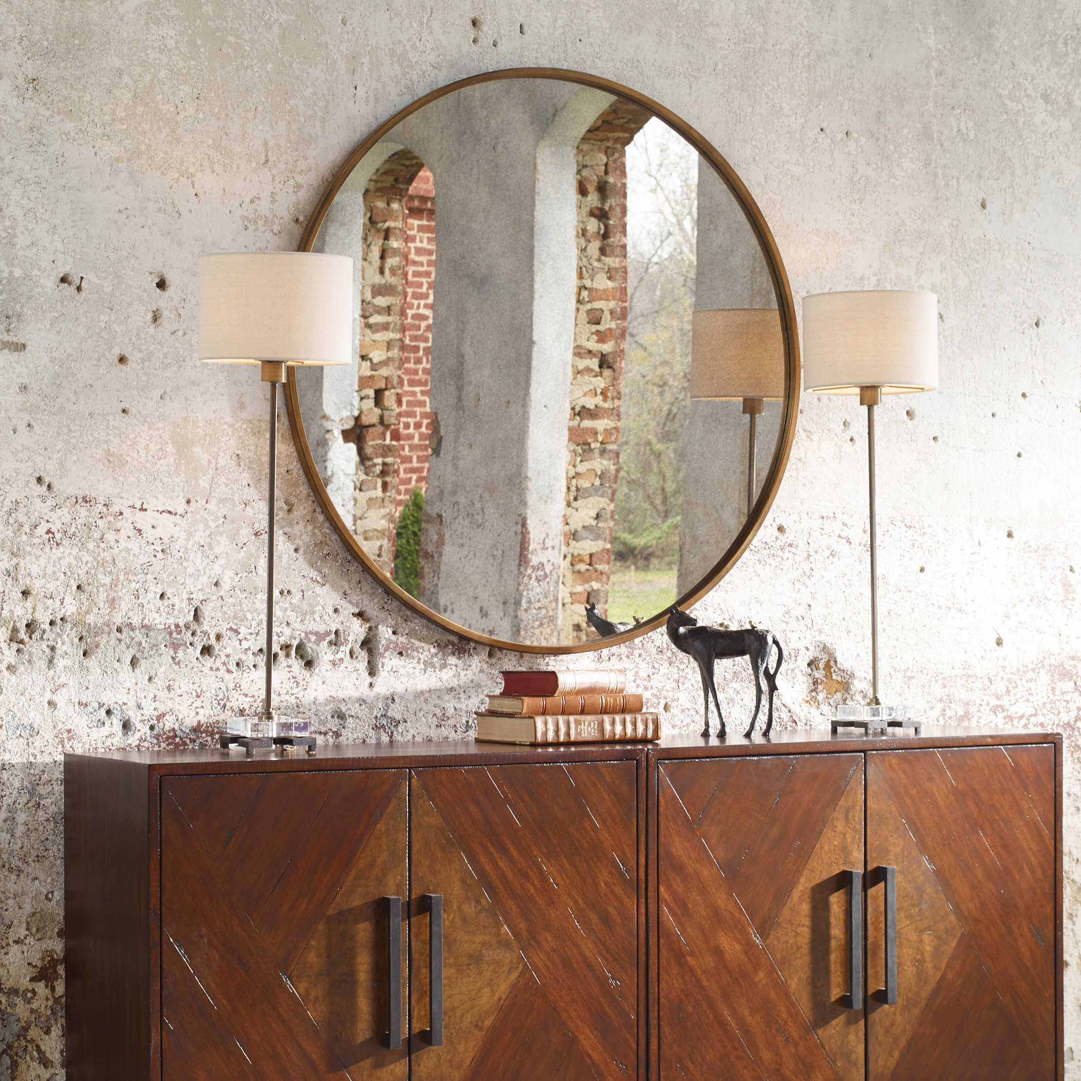Junius Round Mirror Uttermost